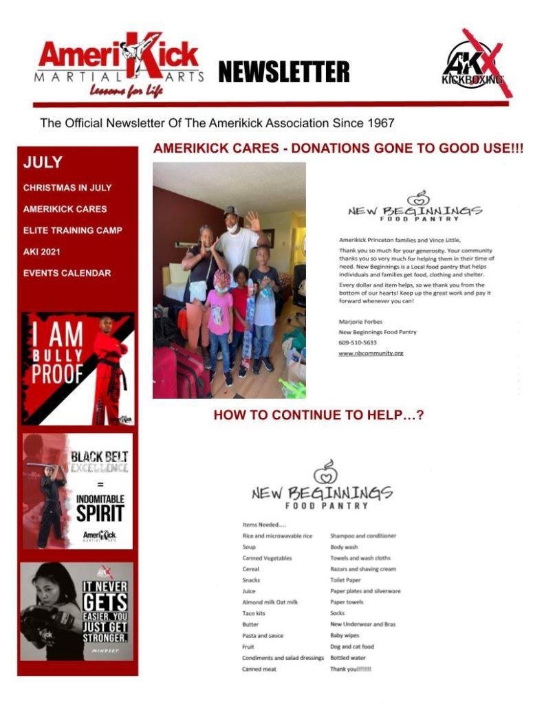 Princeton July Newsletter 1 791x1024, Amerikick Princeton in Lawrenceville, NJ