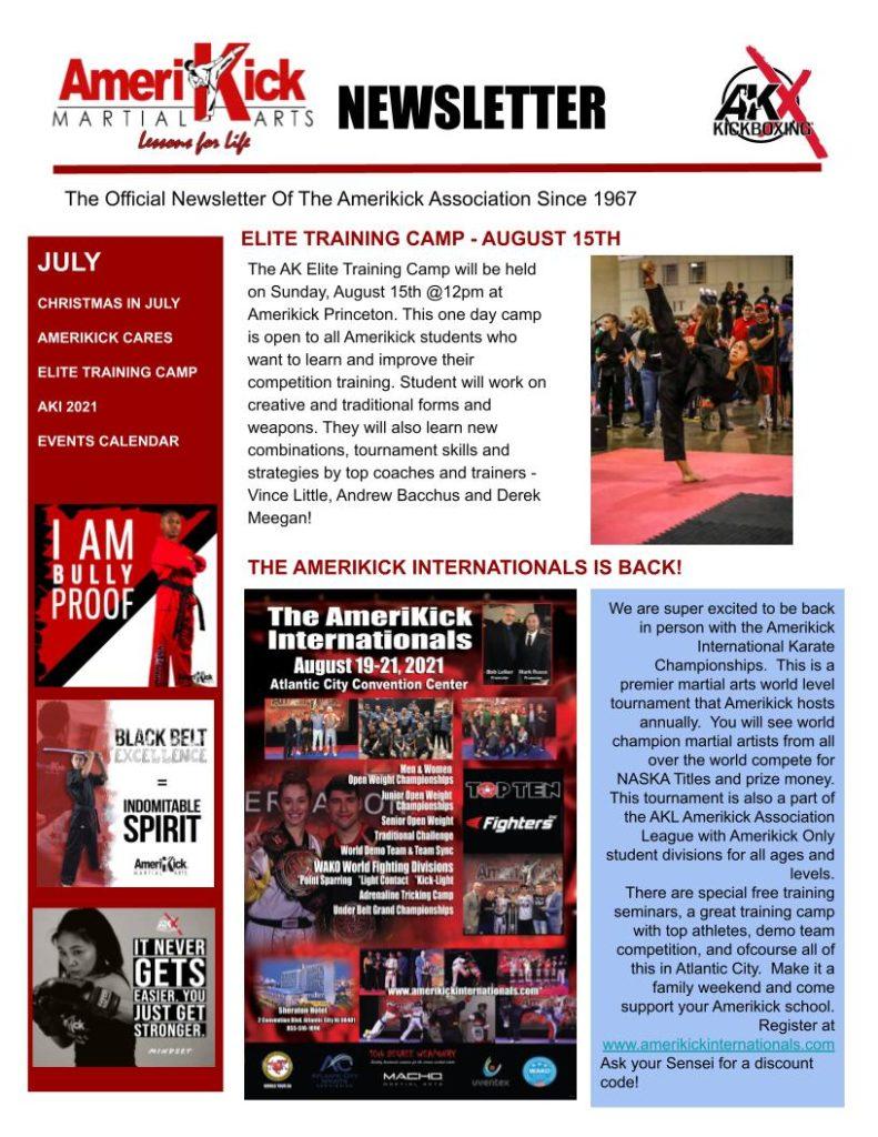 Princeton July Newsletter 2 791x1024, Amerikick Princeton in Lawrenceville, NJ