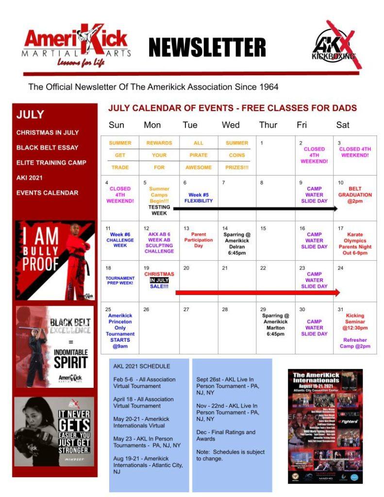 Princeton July Newsletter 3 791x1024, Amerikick Princeton in Lawrenceville, NJ