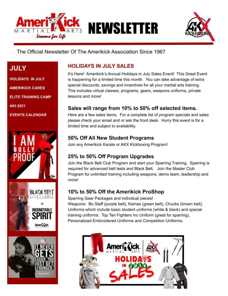 Princeton July Newsletter 791x1024, Amerikick Princeton in Lawrenceville, NJ